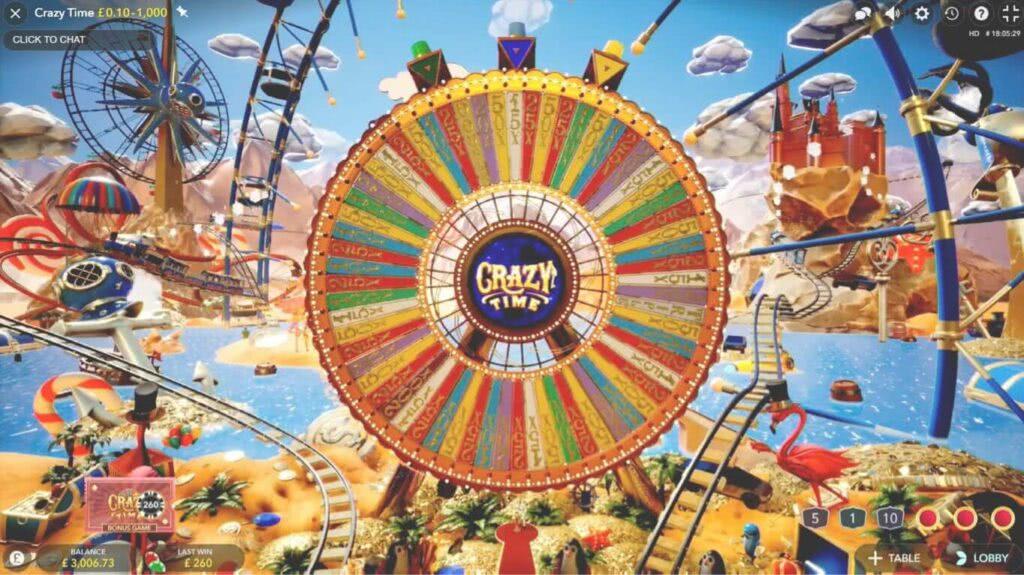 Crazy time gioco bonus