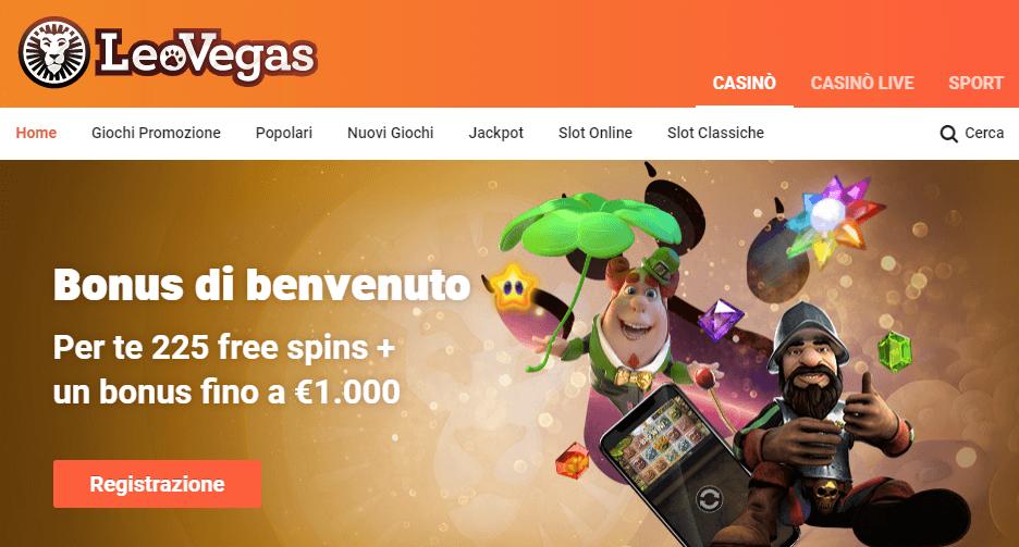 leovegas casino bonus benvenuto