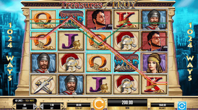 Slot Ulisse Treasures of Troy IGT