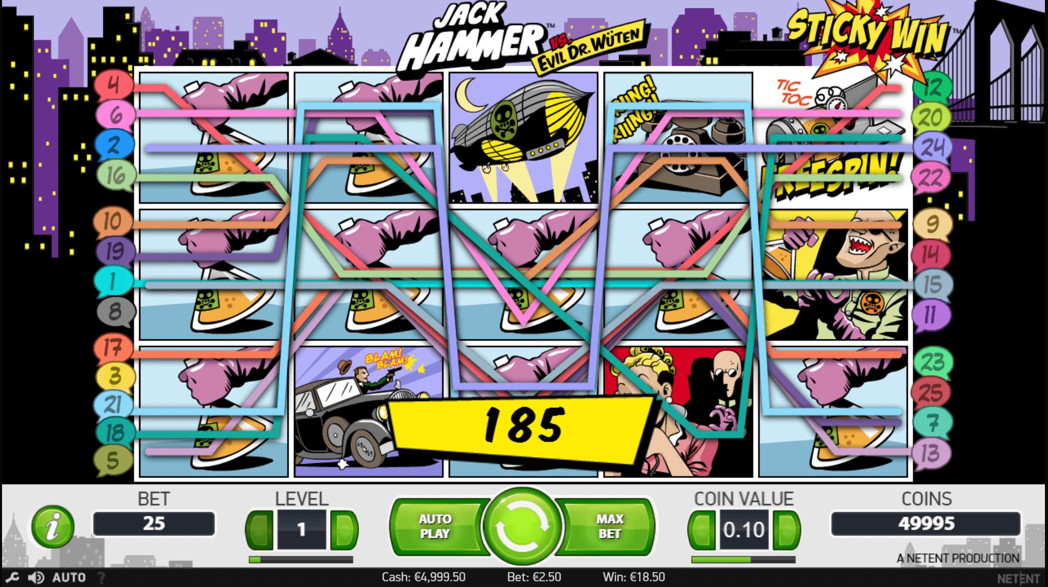 Jack Hammer slot NetEnt