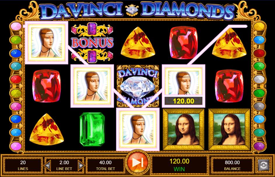 Diamanti Da Vinci slot machine IGT
