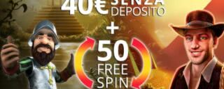 Ottieni un bonus di benvenuto di 40€ + 50 giri gratuiti su AdmiralYES