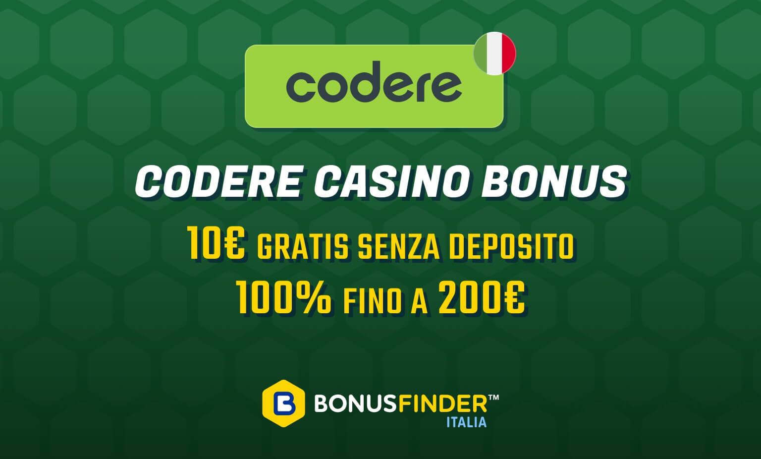 codere casino bonus benvenuto