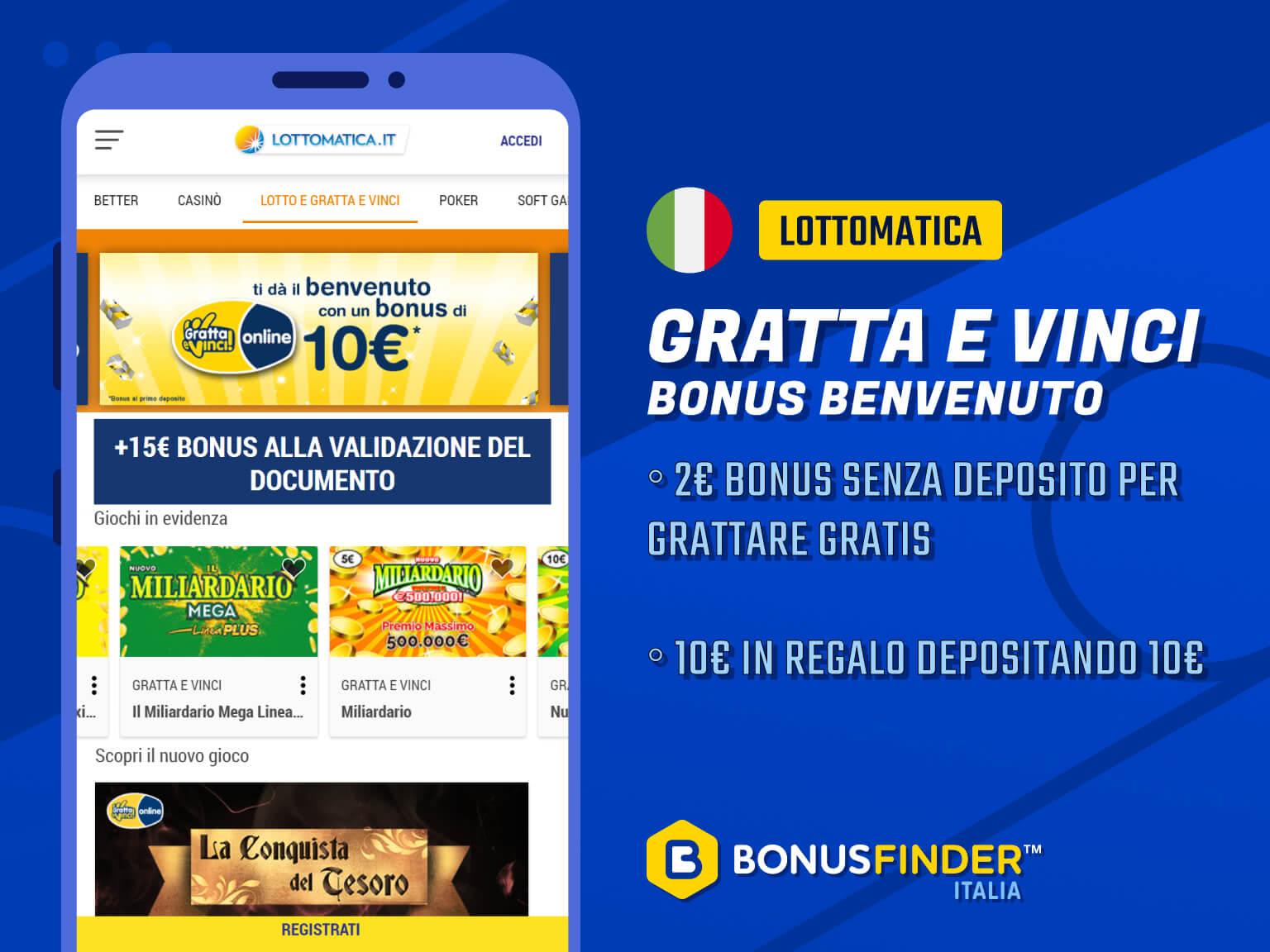 gratta e vinci prova gratis lottomatica