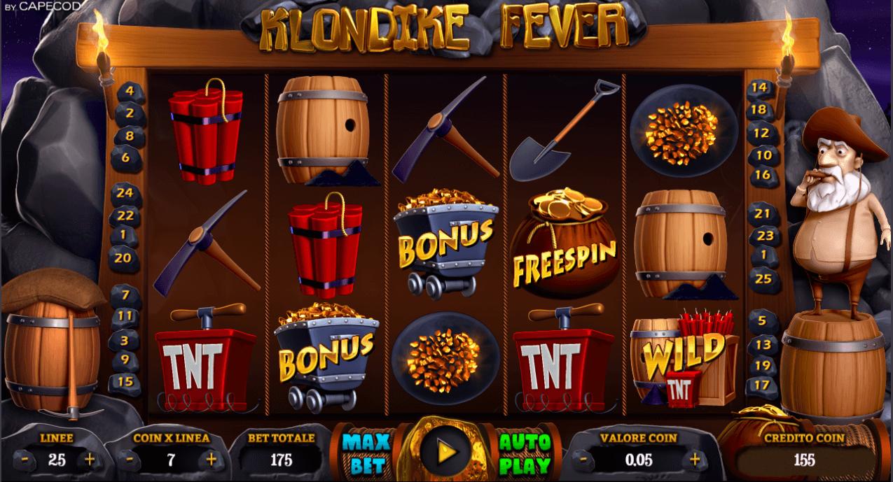 klondike fever slot machine online