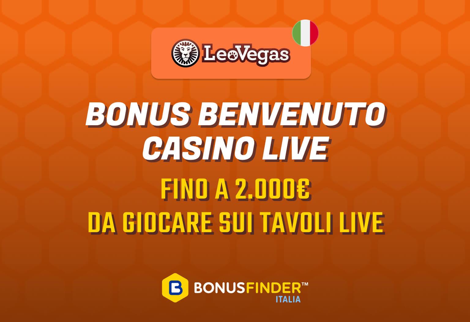 leovegas bonus casino live