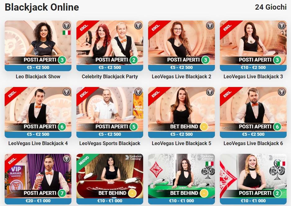 blackjack online giochi italia