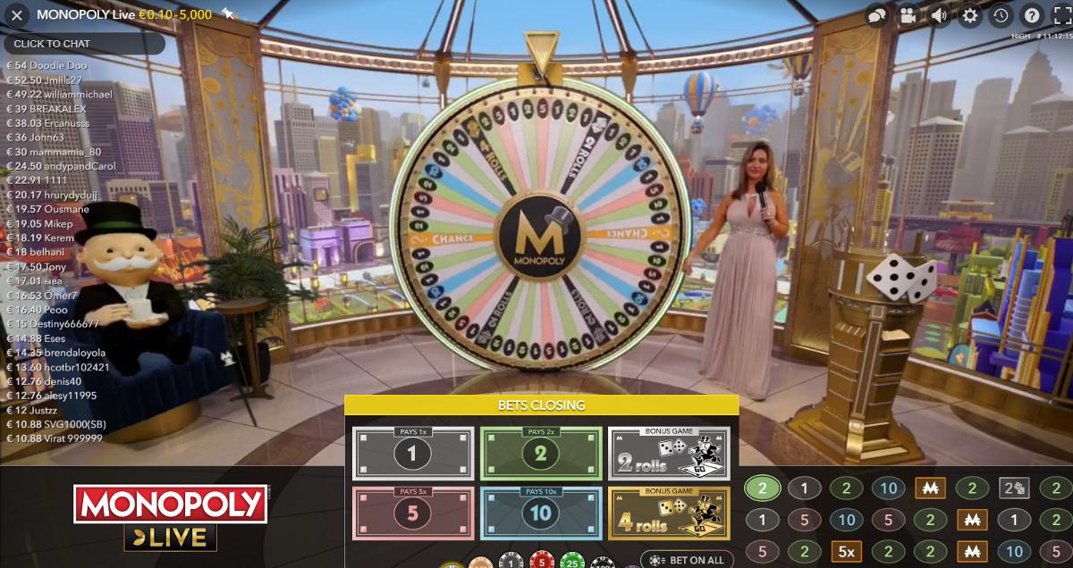 Monopoly Live evolution gaming