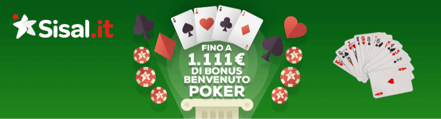 sisal poker bonus